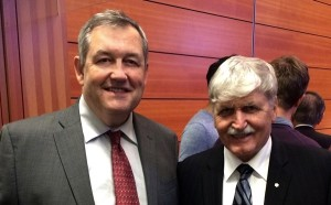 The writer with Lieutenant-General, the Honourable Roméo Dallaire.
