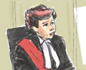 Justice Anne M. Molloy - drawing courtesy of CityNews