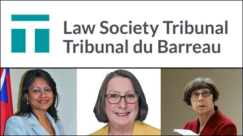 Law Society Tribunal members who approved licensing of pedophile Martin Schultz: (L-R) Sabita Maraj, Susan T. McGrath (chair), Frederika 'Freddy' M. Rotter.